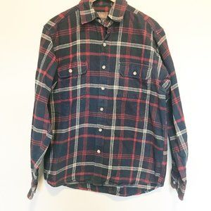 Moose Creek Mens Plaid Flannel Button Down Shirt